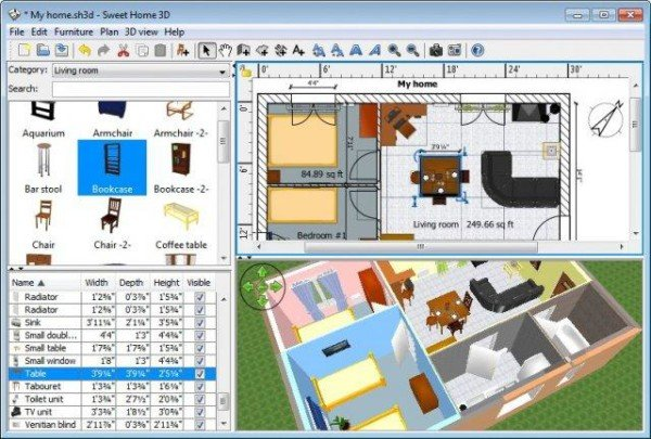 Sweet home 3d free interior design software for windows